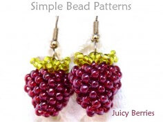 Beaded Berries DIY Earrings Jewelry Making Beading Pattern