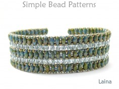 SuperDuo Bracelet Tutorial Beaded Bracelet Pattern
