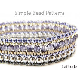 Brick Stitch Beading Pattern for How to Make a Beaded Bracelet