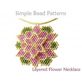 Brick Stitch Beading Pattern Beaded Flower Tutorial