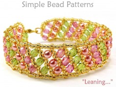 Flat Russian Spiral Tutorial for How to Make a Beaded Bracelet
