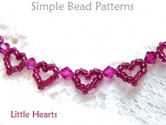Beaded Heart Pattern Easy Bracelet Making Jewelry Making Tutorial