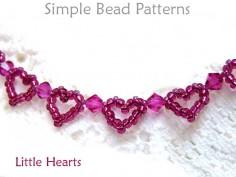 Beaded Heart Pattern Easy Bracelet Making Jewelry Making Tutorial
