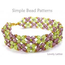 Beaded Flower Bracelet Pattern Jewelry Making Beading Pattern