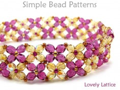 Beaded Flower Bracelet Pattern Jewelry Making Beading Pattern