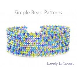 Beaded Herringbone Stitch Easy DIY Bracelet Beading Pattern