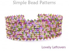 Beaded Herringbone Stitch Easy DIY Bracelet Beading Pattern