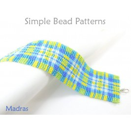 Square Stitch Beading Patterns with Seed Beads DIY Bracelet Pattern