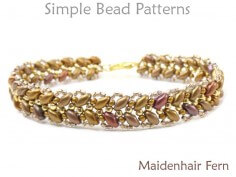 SuperDuo Bracelet Pattern Jewelry Making Tutorial DIY Beaded Bracelet