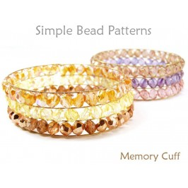 DIY Beaded Cuff Bracelet Memory Wire Bracelet Design Beading Tutorial