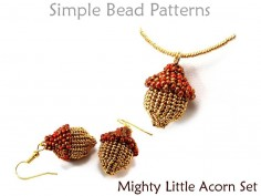 Acorn Necklace DIY Beaded Earrings Herringbone Stitch Beading Tutorial