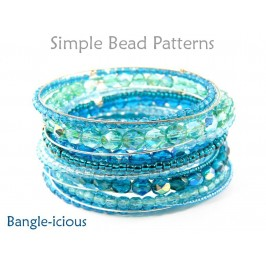 Easy Beaded Bangle Bracelets Memory Wire Jewelry Making Tutorial