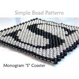How to Make Beaded Coasters DIY Monogram Coaster Monogram Gift Idea