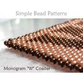 How to Make Beaded Coasters DIY Monogram Coaster Monogram Gift Idea