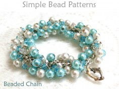 Easy beading pattern for beginners for how to make a wire-wrapped bracelet using crystals & pearls.