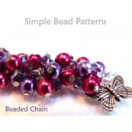 DIY Wire-wrapped bracelet beading pattern with Swarovski crystals and pearls.