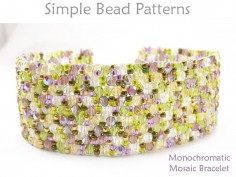 Peyote Stitch Bracelet Pattern Jewelry Making Beading Tutorial