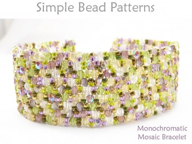 Peyote Stitch Bracelet Pattern Jewelry Making Beading Tutorial