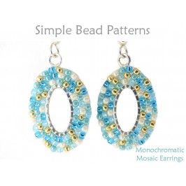 Circular Brick Stitch Beading Instructions for Beaded Earrings