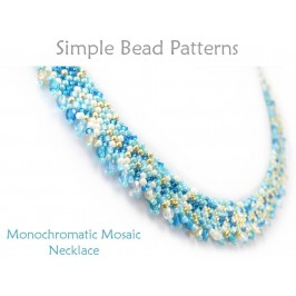 Diagonal Peyote Stitch Tutorial to Make a Beaded Necklace