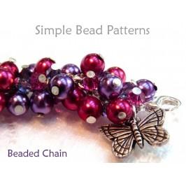 DIY wire-wrapped bracelet beading pattern.
