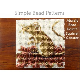 Easy Beaded Mouse Coaster Autumn Fall Home Decor Beading Pattern