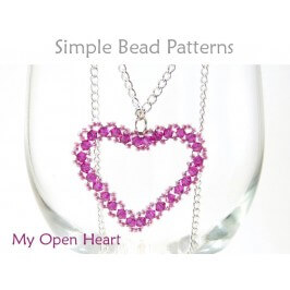 DIY Heart Necklace with Crystals Wire Working Jewelry Pattern