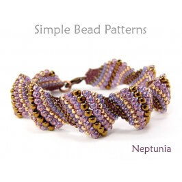 Peyote Stitch DIY Bracelet Jewelry Making Beading Pattern