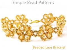 Beaded Flower Bracelet Jewelry Making Beading Pattern