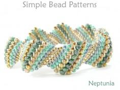Peyote Stitch DIY Bracelet Jewelry Making Beading Pattern