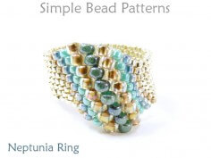Peyote Stitch DIY Ring Jewelry Making Beading Pattern