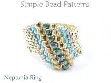 Peyote Stitch DIY Ring Jewelry Making Beading Pattern