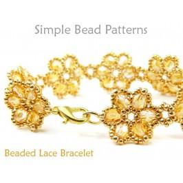 Beaded Flower Bracelet Jewelry Making Beading Pattern