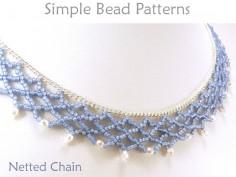 Beaded Netting Instructions DIY Necklace Beading Pattern