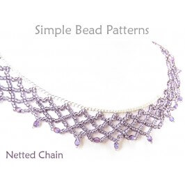 Beaded Netting Instructions DIY Necklace Beading Pattern