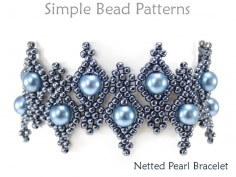 DIY Bracelet Beaded Netting Instructions Jewelry Making Tutorial