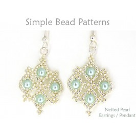 DIY Necklace Earrings Beaded Netting Instructions Beading Pattern