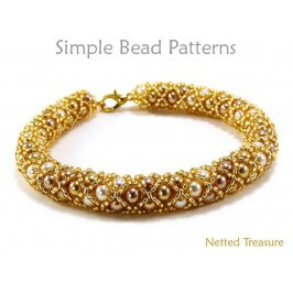 DIY Bracelet Necklace Tubular Netting Bead Stitch Instructions