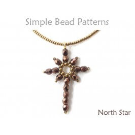 DIY Christmas Jewelry Beaded Star Necklace Earrings Beading Pattern