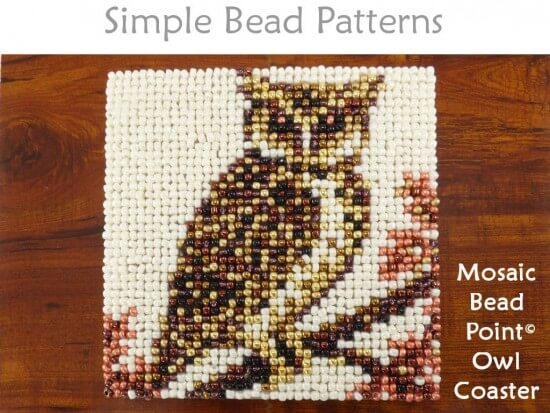 Easy Beaded Owl Coaster Autumn Fall Decor Beginner Beading