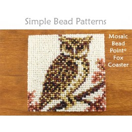 Easy Beaded Owl Coaster Autumn Fall Decor Beginner Beading Pattern