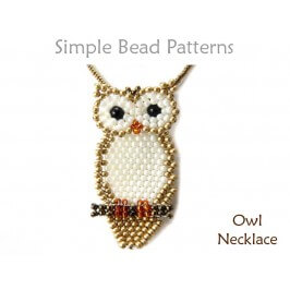 Beaded Owl Pattern DIY Jewelry Making Tutorial by Simple Bead Patterns