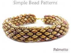 SuperDuo Bead Pattern Two Hole Bead Bracelet Necklace Tutorial