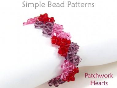 Beaded Heart Instructions to Make a Swarovski Crystal Heart Bracelet
