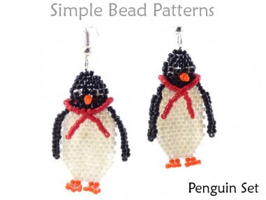 DIY Penguin Christmas Jewelry Making Necklace Earrings Beading Pattern