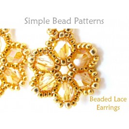 Beaded Flower Earrings Jewelry Making Beading Pattern