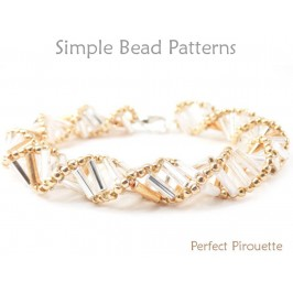 Bugle Bead Pattern for How to Make a Spiral Bracelet and Necklace