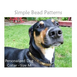 DIY Dog Collar Beaded Leather Beading Pattern