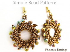St Petersburg Stitch Earrings Beading Pattern DIY Tutorial