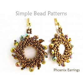 St Petersburg Stitch Earrings Beading Pattern DIY Tutorial